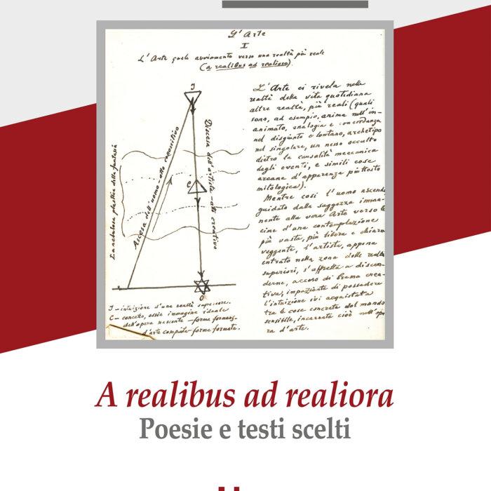 """Copertina del libro """"A realibus ad realiora"""""""